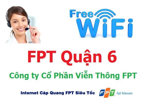 Lắp đặt mạng FPT quận 6 TPHCM tặng modem wifi cáp quang