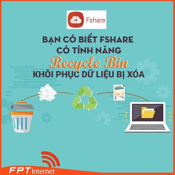 Bạn có biết Fshare có tính năng Recycle Bin khôi phục dữ liệu bị xóa