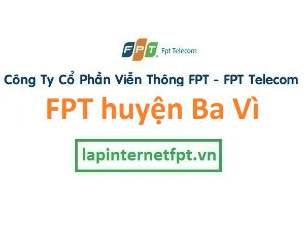 Lắp đặt internet FPT huyện Ba Vì Hà Nội