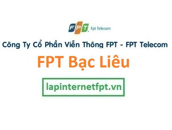 Lắp đặt internet FPT Bạc Liêu