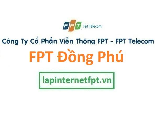 Lắp đặt internet FPT huyện Đồng Phú Bình Phước