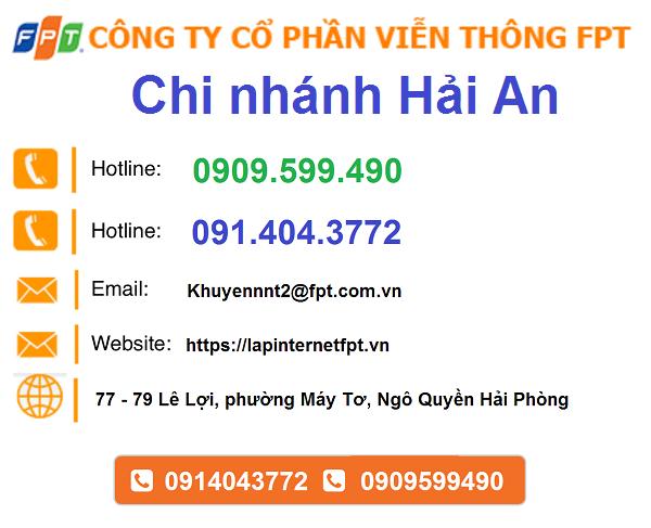 Lắp đặt internet FPT quận Hải An thành phố Hải Phòng