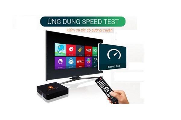 Ứng dụng speedtest trên fpt play box