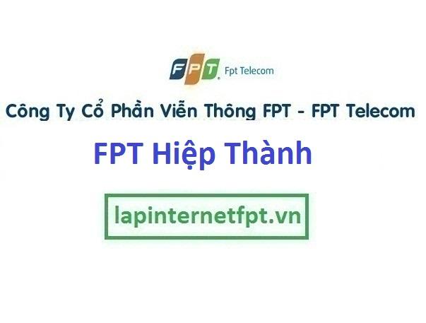 Lắp đặt cáp quang FPT phường Hiệp Thành tốc độ cao