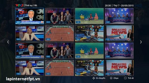Tính năng truyền hình FPT update new 2017