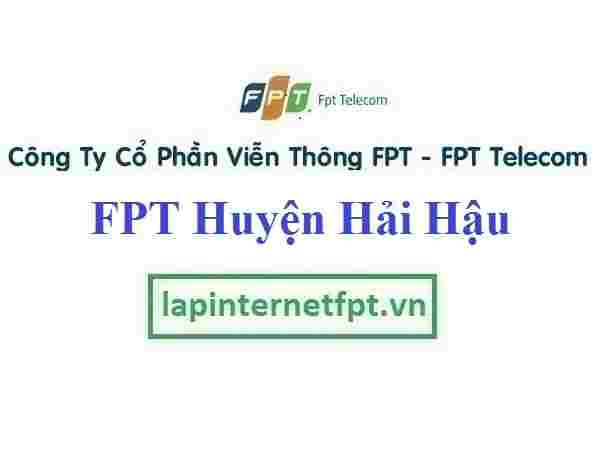 Lắp Đặt Mạng FPT Huyện Hải Hậu Tỉnh Nam Định