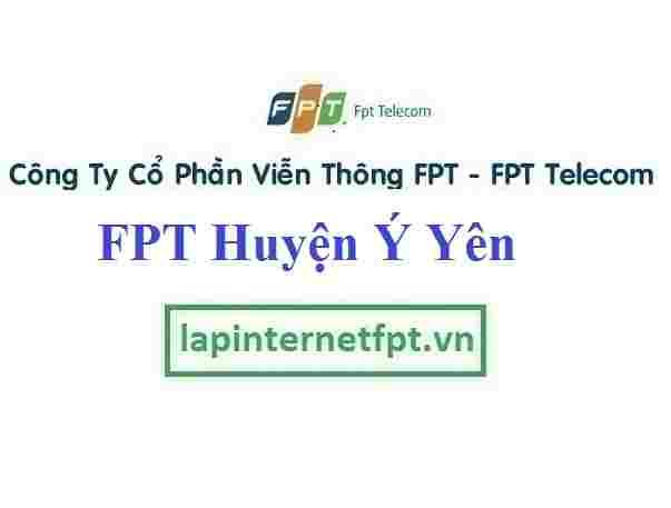 Lắp Đặt Mạng FPT Huyện Ý Yên Tỉnh Nam Định