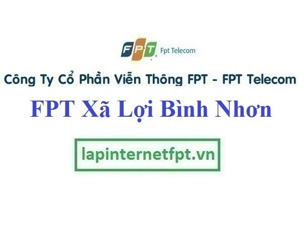 Lắp đặt internet Fpt ở xã Lợi Bình Nhơn