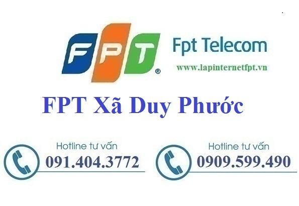 Đăng ký cáp quang FPT xã Duy Phước