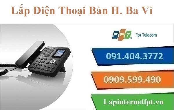 Lắp Đặt Điện Thoại Bàn FPT Huyện Ba Vì Tại TP. Hà Nội