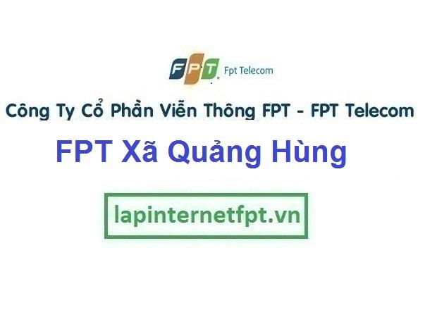Lắp Đặt Mạng FPT Xã Quảng Hùng Ở Thành Phố Sầm Sơn