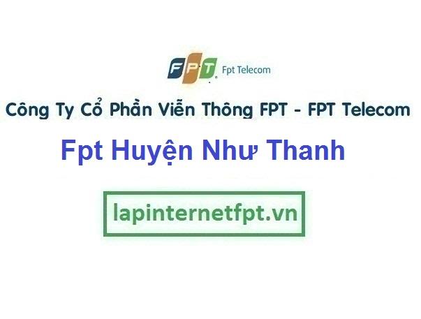 Lắp Đặt Mạng Fpt Huyện Như Thanh ở tại tỉnh Thanh Hóa