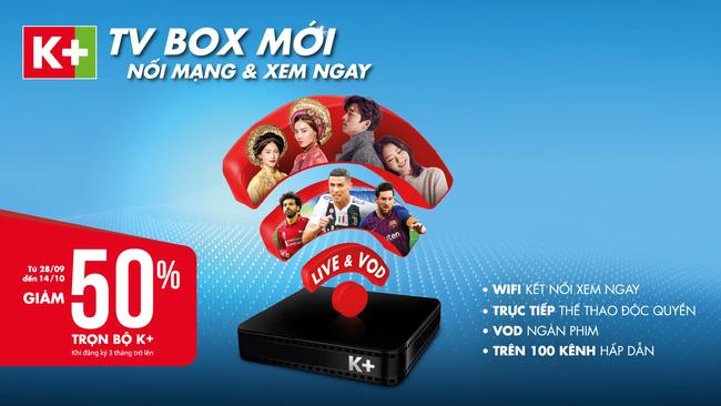 Lắp đặt đầu thu K+ tivi box