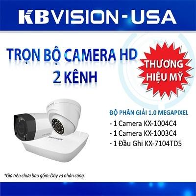 Bộ 2 camera KBvision bao gồm những gì