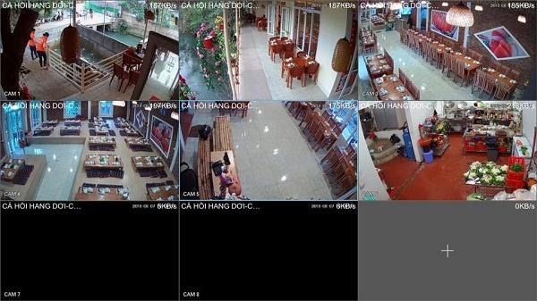 Lắp đặt camera nhà hàng