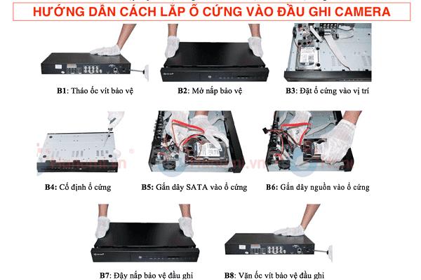 Hướng dẫn cách lắp ổ cứng vào đầu ghi camera