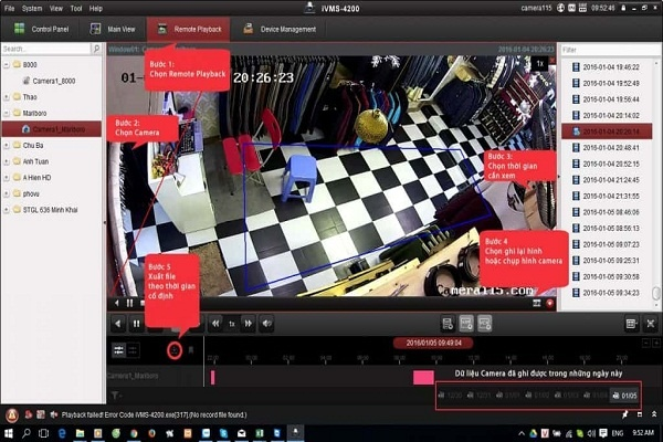 Hướng dẫn cách trích xuất video từ Camera Hikvision
