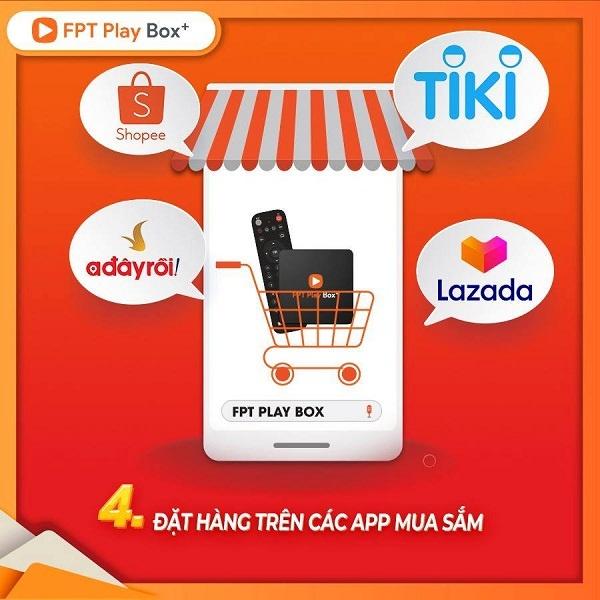 Mua Fpt play box trên sàn thương mại điện tử như Tiki, Shopee, Lazada, Sendo ...