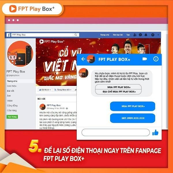 Mua hàng qua trang Fpt play box trên Facebook