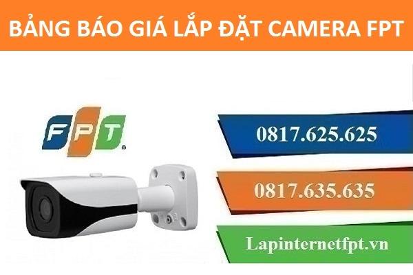 Bảng báo giá lắp đặt camera Fpt