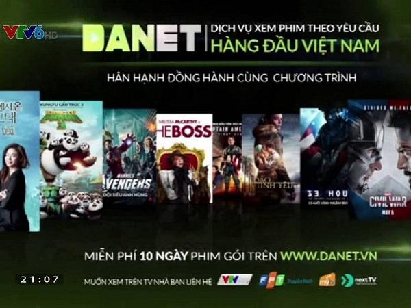 Danet dịch vụ xem phim theo yêu cầu