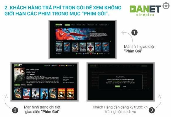 Đăng ký gói xem phim trọn gói theo yêu cầu trên Danet