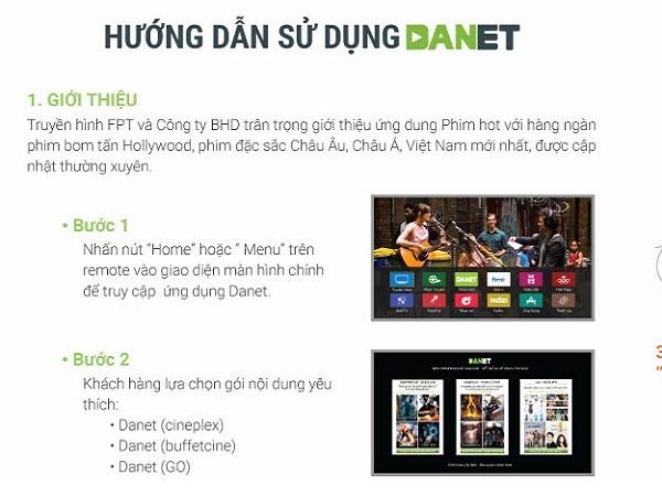 Hướng dẫn cách đăng ký gói Danet trên truyền hình