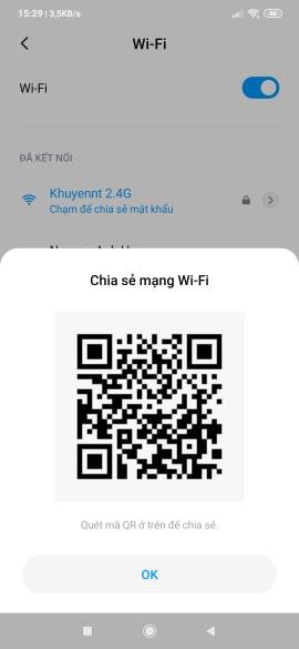 Cách coi mật khẩu wifi đã kết nối trên dòng điện thoại Xiaomi