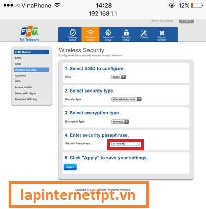 Tiến hành đổi mật khẩu wifi cho modem G97RG3