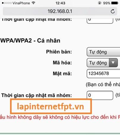 Tiến hành đổi tên wifiTpLink TL-WR740N