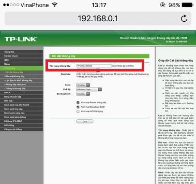 Cấu hình router wifi Tplink 940N