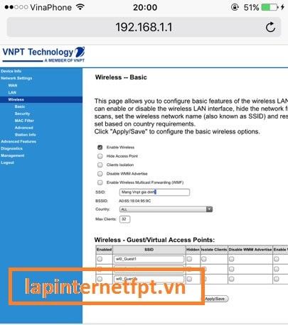 Tiến hành đổi tên wifi Vnpt như thế nào
