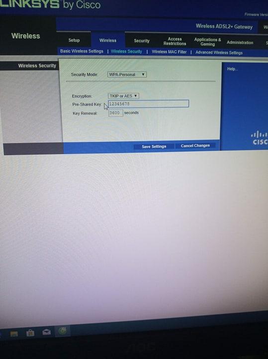 Đổi tên và mật khẩu wifi choLinksys WAP54G