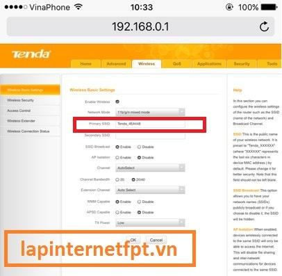 Cách đổi tên modem wifi Tenda