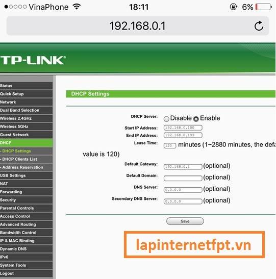 Chuyển địa chỉ IP của Router Wifi Tplink Acher C2 sang cùng 1 lớp mạng