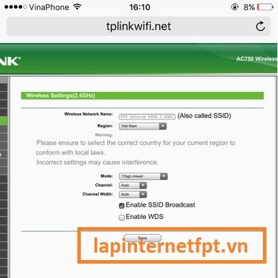 Đổi tên mạng wifi trong modem Tplink Acher C2