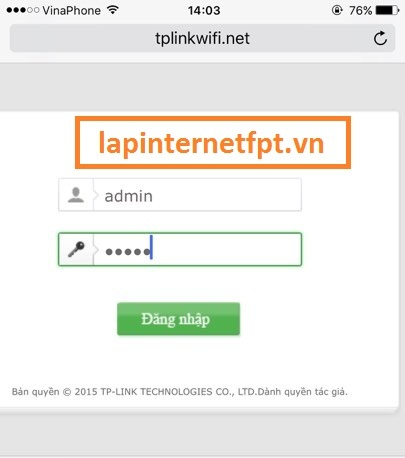 Đổi Mật Khẩu Wifi Tplink