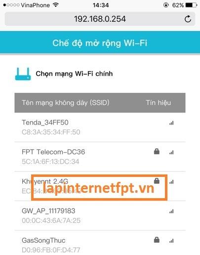 Cấu hình Wifi Repeater Totolink EX200
