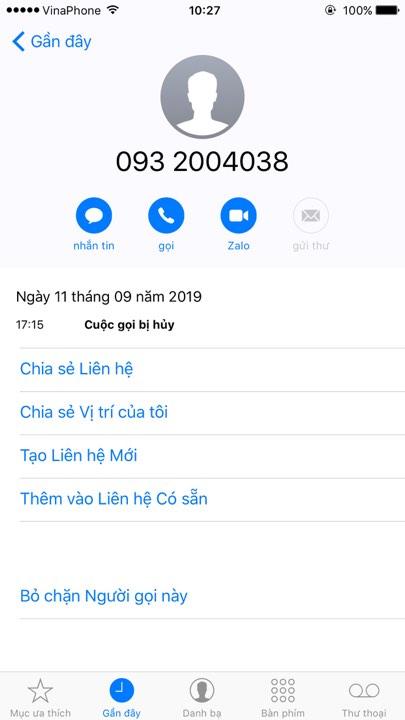 Cách chặn số điện thoại lạ trên điện thoại iphone