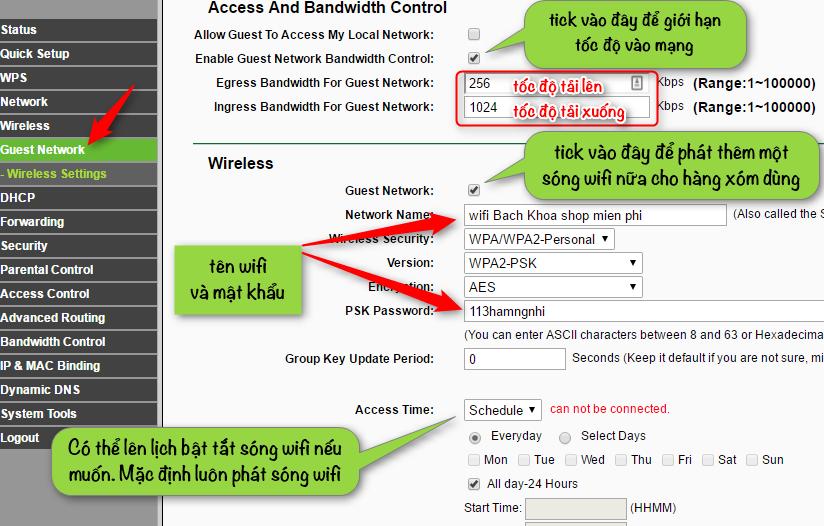 Bật tính năng chia sẻ tài khoản Guest trên router wifi Tplink bằng cách nào