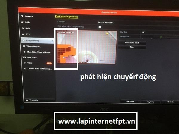 Cách bật tắt tính năng báo động chuyển động trên đầu ghi Hikvision