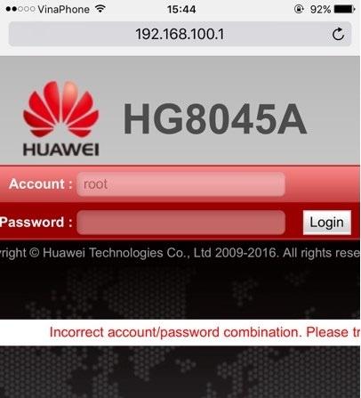 cấu hình modem VNPT Huawei HG8045A