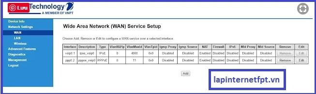 Hướng dẫn cách mở port modem VNPT Igate GW040W