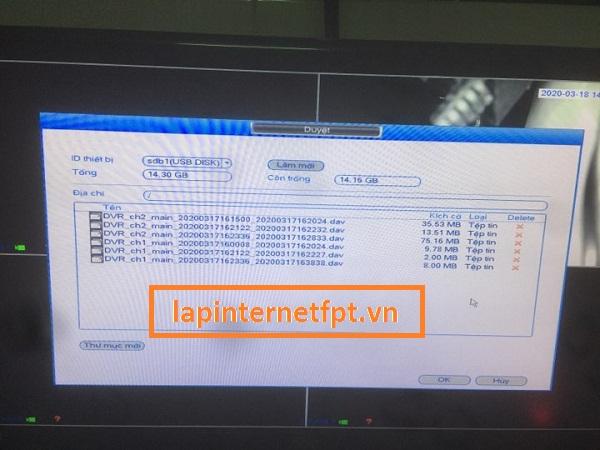 Cách chép dữ liệu đã quay trên camera Kbvison ra USB
