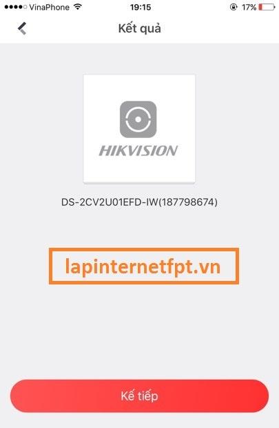 cấu hình camera wifi Hikvision bằng điện thoại