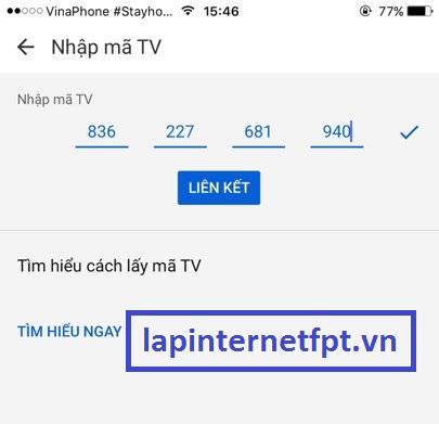 Cách chiếu Youtube từ điện thoại lên Tivi bằng Fpt box