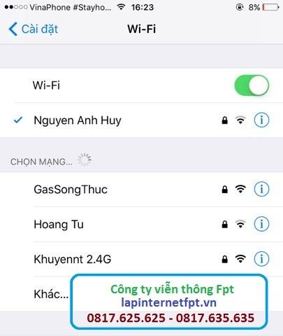 - Sửa lỗi iphone kết nối wifi nhưng không sử dụng được mạng